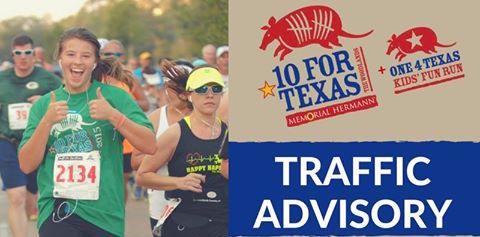 2016 Memorial Hermann 10 for Texas Race Lane Closure Information