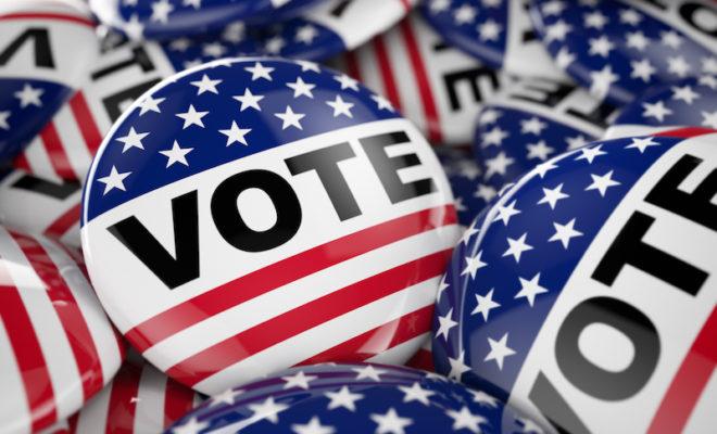 Vote Election 2017 Button