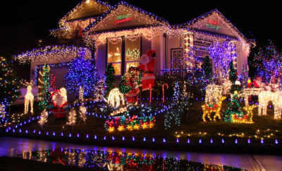 Christmas lights the woodlands