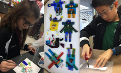 Fused Glass Robots Created by 3rd and 4th Graders To Go On Display at Pearl Fincher Museum