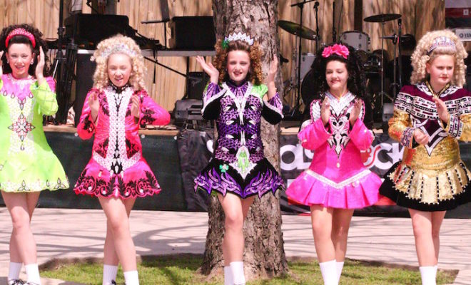 Lucky Irish Food Truck Festival irish dancers old town spring