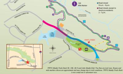 Travel Delays April 1 for TWFG Muddy Trails Bash event