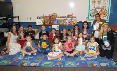 SNYDER ELEMENTARY SCHOOL STUDENTS COLLECT AND DONATE 2,710 POUNDS OF FOOD AT THE END OF THE SCHOOL YEAR