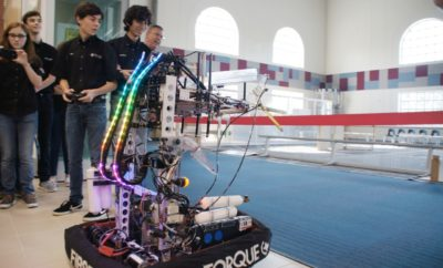 The Woodlands College Park High School lab is home to FIRST Robotics team Texas Torque
