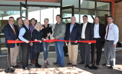 The Woodlands Township officially opened The Recreation Center at Rob Fleming Park with a ribbon-cutting ceremony at noon Friday, November 10, 2017.