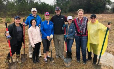 rotary club tree planting the woodlands