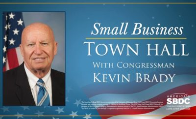 U.S. Rep. Kevin Brady to speak at Lone Star College-Small Business Town Hall
