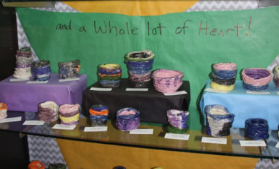 Even the youngest students at The John Cooper School have been busy in their art classes preparing for Empty Bowls that will be held in the Student Center on campus on February 24 to raise funds to help fight hunger.