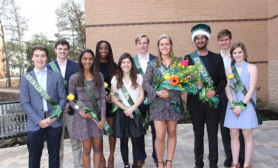 The John Cooper School's 2018 Dragon Court strike a pose following a Pep Rally when seniors Gurtej Gill and Anne Sophie Albers were crowned Dragon King and Queen.