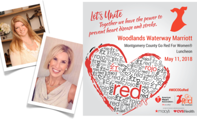THE WOODLANDS, TX —  The American Heart Association's Montgomery County Go Red For Women® Luncheon is set to welcome 900 dressed-in-red guests to this year's highly anticipated event on Friday, May 11, at The Woodlands Waterway Marriott.