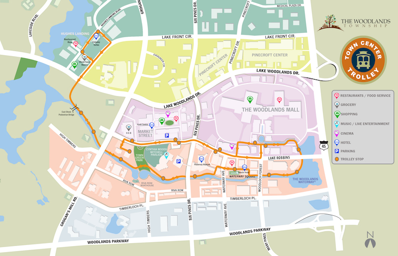 Town center trolleys expand service to hughes landing for Site plan app