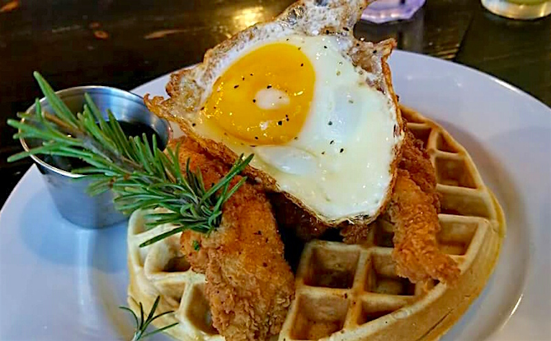 Craft Grill's Brunch Chicken and Waffles