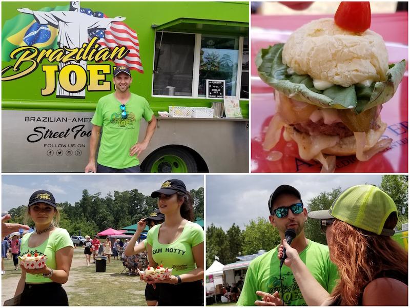 Burger competitor Brazilian Joe's American/Brazilian fusion food truck with owner Jordan Fowell.