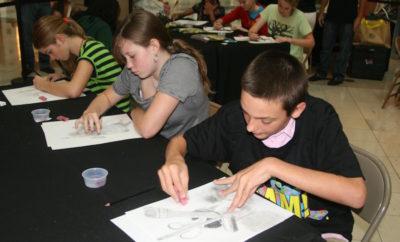 Summer Art Workshop group