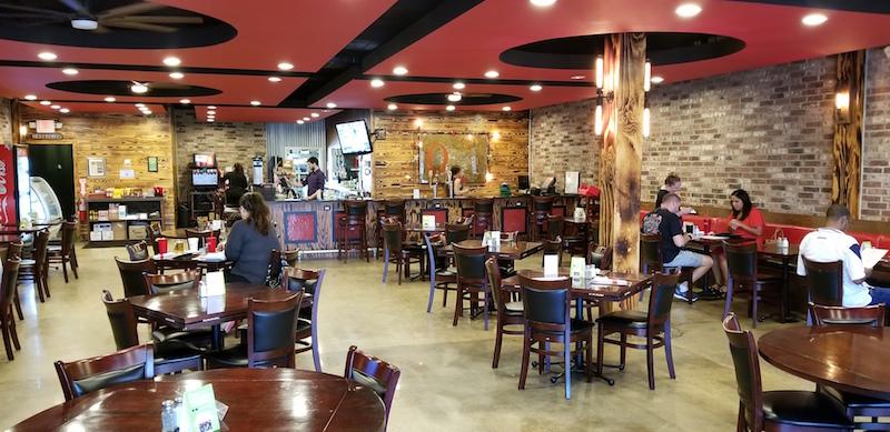 Interior of Omega Grill