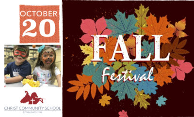 Christ Community School is hosting their Annual Fall Festival on Saturday, October 20th from 10:00am until 2:00pm at the school located at 1488 Wellman Road in The Woodlands.