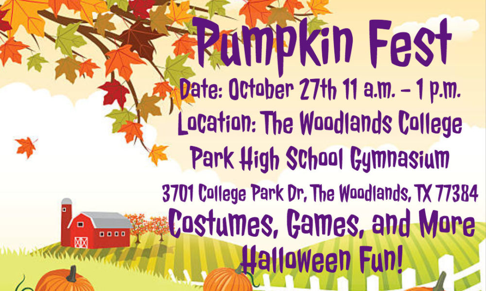 Pumpkin Fest is a FREE Halloween event open to the community on Saturday, October 27 from 11 am to 1 pm at The Woodlands College Park High School Gymnasium. Hosted by LocalInteract Clubs, the event will have a costume contest, games, and other fun Halloween activities planned for families and children of all ages.