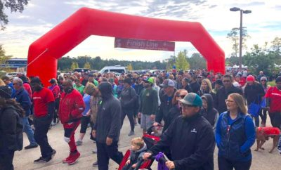 Around 5,000 Montgomery County residents laced up their sneakers on Saturday, November 10, 2018 for the American Heart Association's 25th annual Heart Walk at North Shore Park. The non-competitive, family-oriented 5k walk raised over $350,000 to support the fight against cardiovascular disease and stroke.