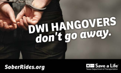 Starting December 14, 2018 and continuing through January 1, 2019, the Montgomery County Sheriff's Office in conjunction with law enforcement agencies throughout Montgomery County, will be deploying additional resources on roadways targeting intoxicated drivers.