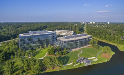 Entergy and ExxonMobil have signed leases for new office space at Lake Front North in Hughes Landing in The Woodlands, Texas.