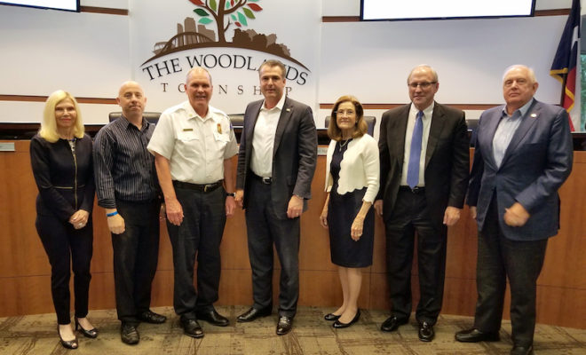 THE WOODLANDS, TEXAS – After more than 14 years of service to The Woodlands Township, Fire Chief Alan B. Benson has announced his retirement, effective May 2, 2019.