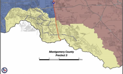 Montgomery County Precinct 3 contains all or part of the following villages in The Woodlands: Grogan's Mill, Panther Creek, Cochran's Crossing, Indian Springs and Sterling Ridge.