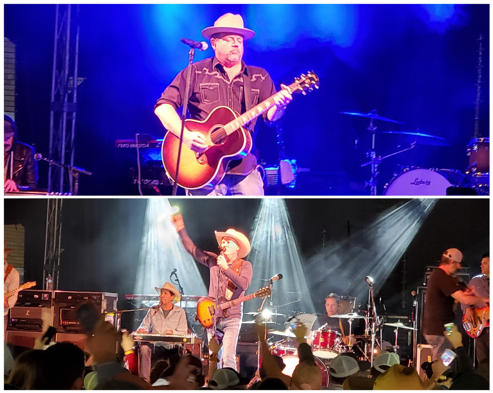 Saturday night entertainment headliners Pat Green and Kevin Fowler, photos by Nick Rama