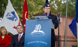 The Woodlands community came out on Monday, November 11 to honor military men and women at The Woodlands Township's Veterans Day Tribute in Town Green Park.