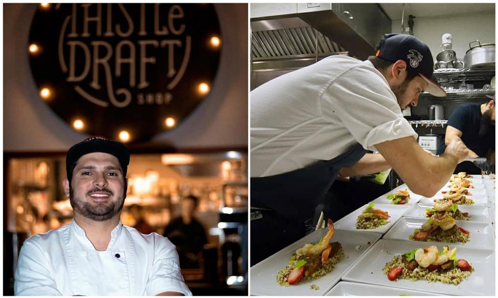 (Chef Ernesto Villarreal, photos by Thistle Draftshop)