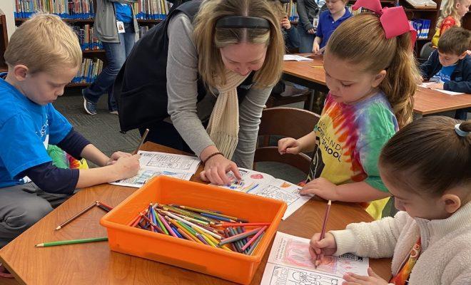 Kindergarten Students participate in Big Art Day copy