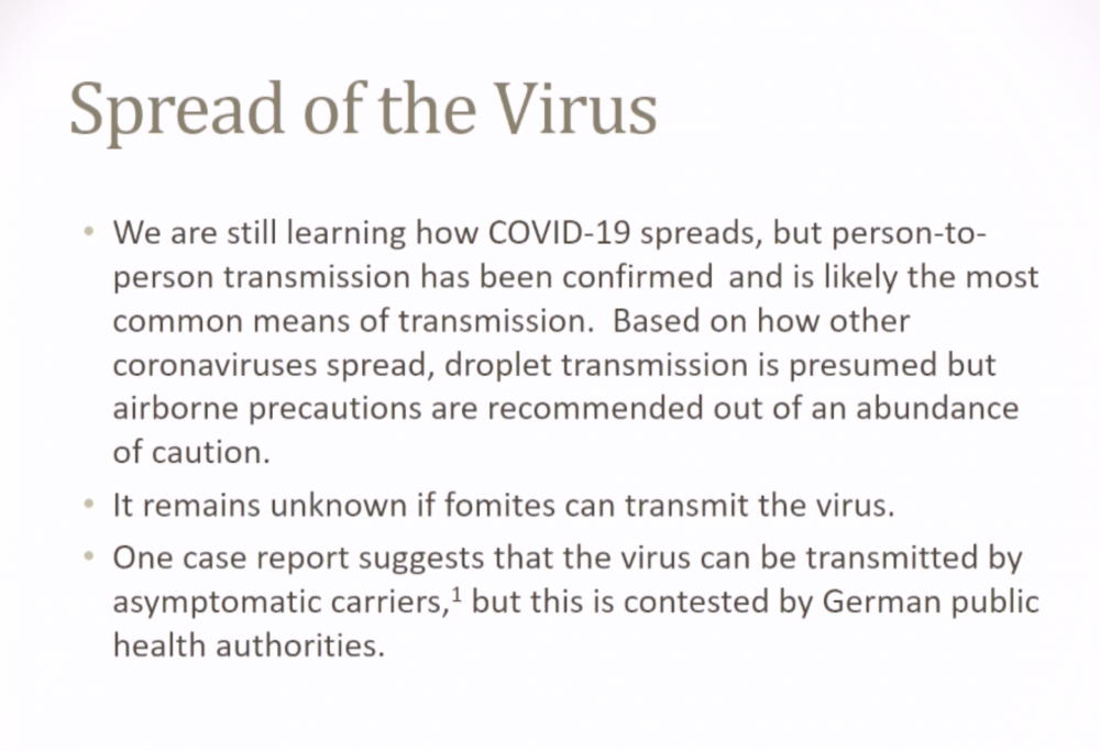 Coronavirus Awareness and Preparedness