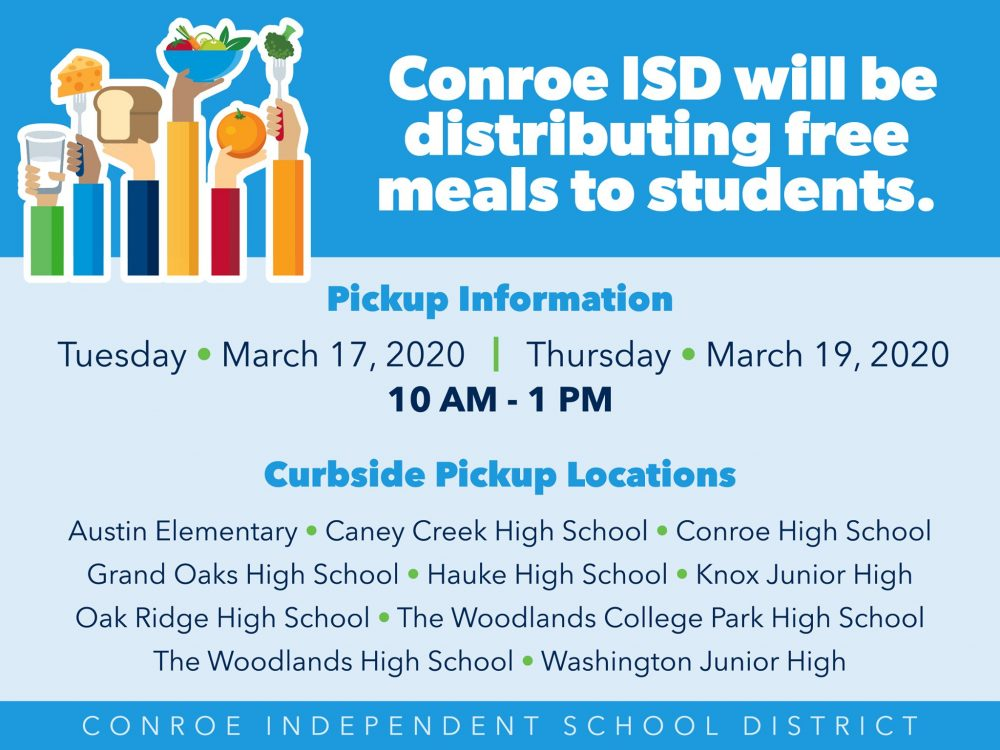 conroe isd free student meal