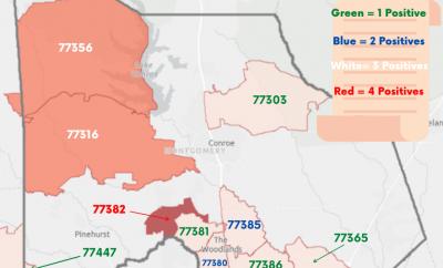Montgomery County Zip Codes COVID-19 Cases
