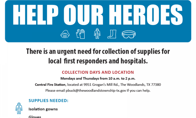 Help Our Heroes COVID19 The Woodlands Township