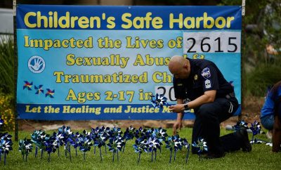 2,615 Pinwheels reflect the number of children offered healing and justice through Children's Safe Harbor in 2019.