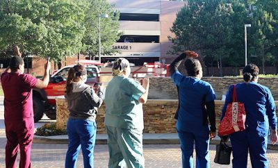 First Responders Parade at CHI St. Luke's Health The Woodlands Hospital