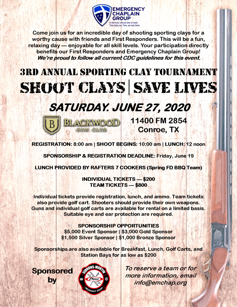 emergency chaplain group shooting clays full flyer 2020