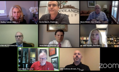 The Woodlands Township Board of Directors discussed opening up the community during its special meeting via videoconference on Thursday, April 30, 2020.