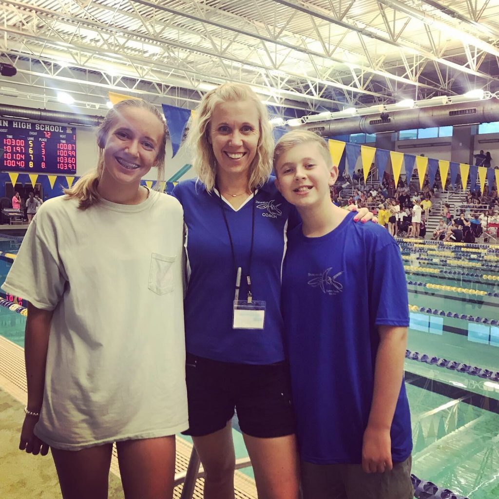 Suz White Shenandoah Sharks Coach Swim Meet
