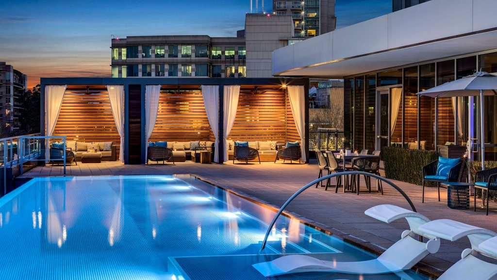 Relax poolside in a cabana at The Westin at the Woodlands
